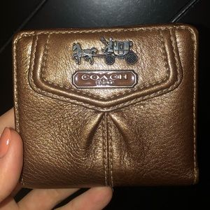 Bronze Metallic Coach Wallet
